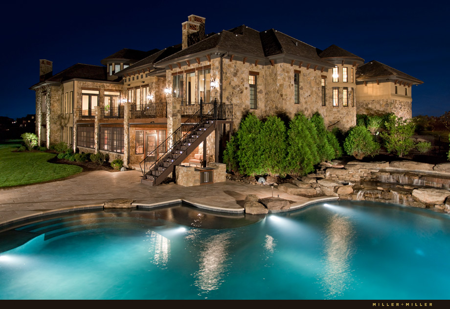 Barrington Hills real estate agent night photos pool