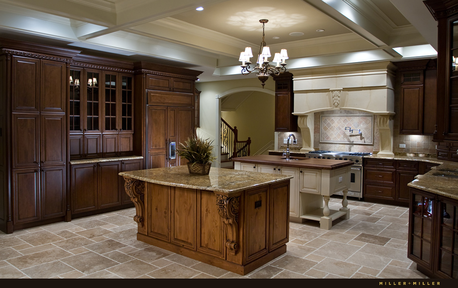 double island two tone luxury kitchen Barrington Hills
