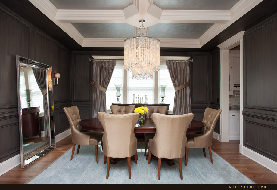 modern luxury dining room barrington hills