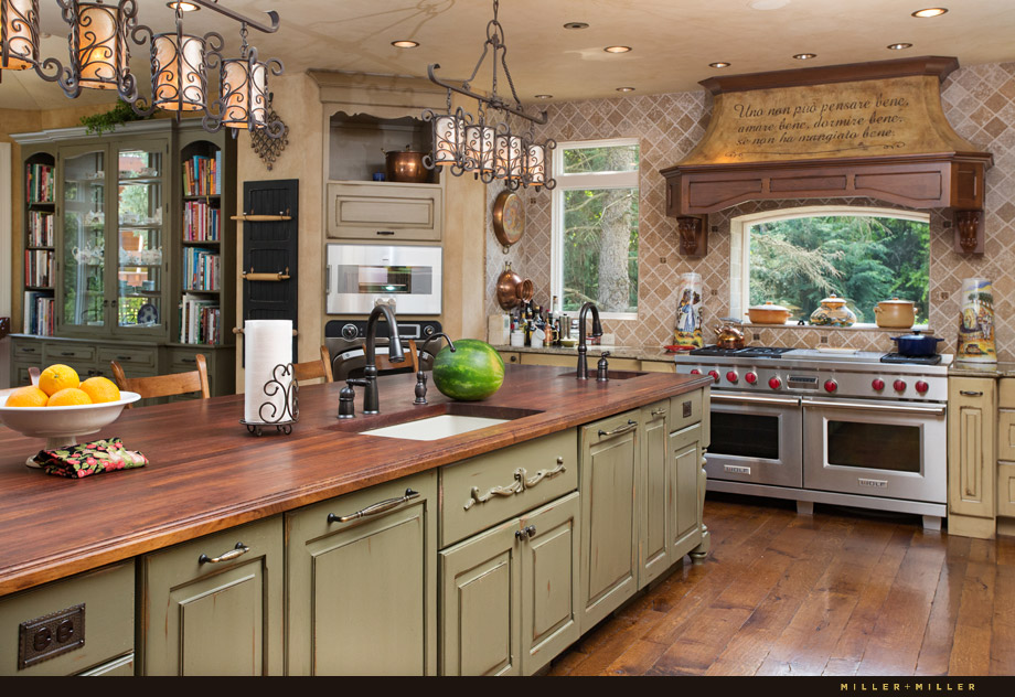 distressed shaker luxury Italian kitchen