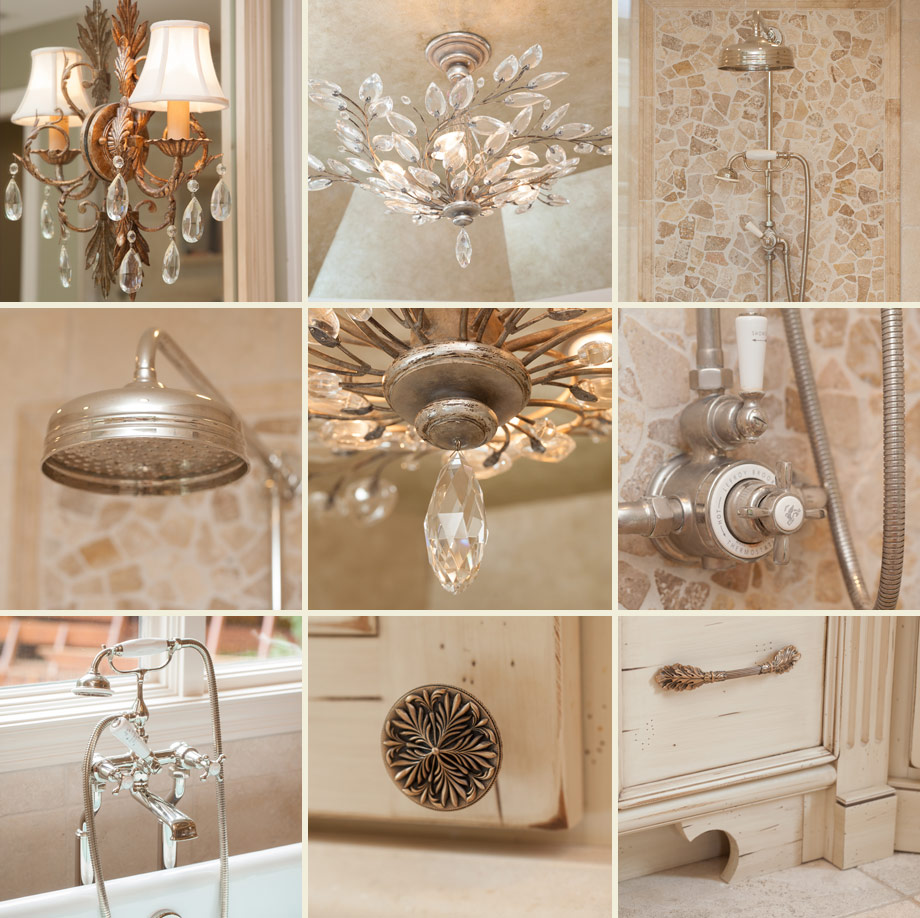 elegant luxury master bath crystal European classic plumbing fixtures