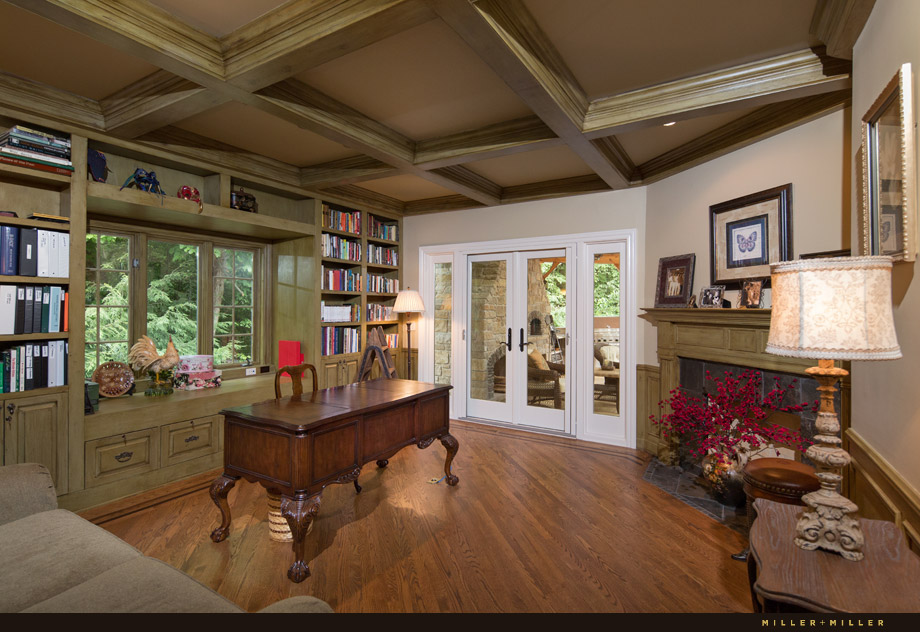 faux finished coffered ceiling study