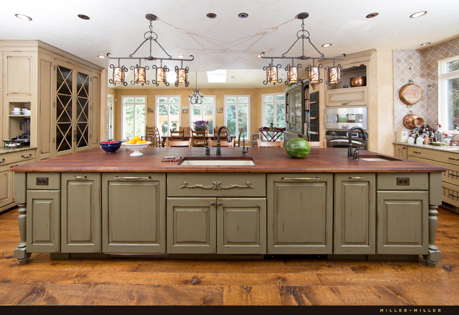 island stained wood counter hardwood countertop
