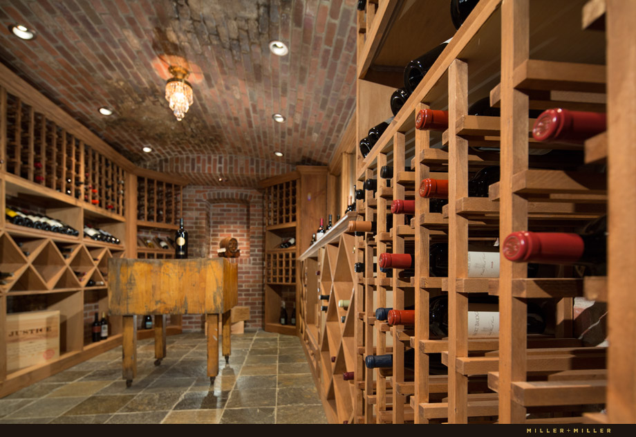 large luxury walk-in wine cellar