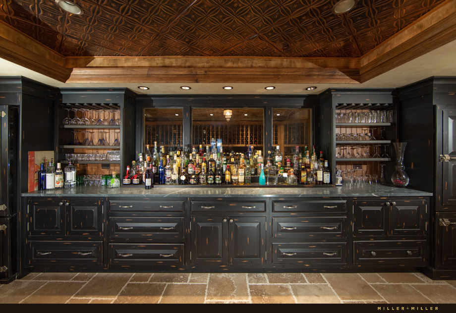 large professional bartenders well basement bar