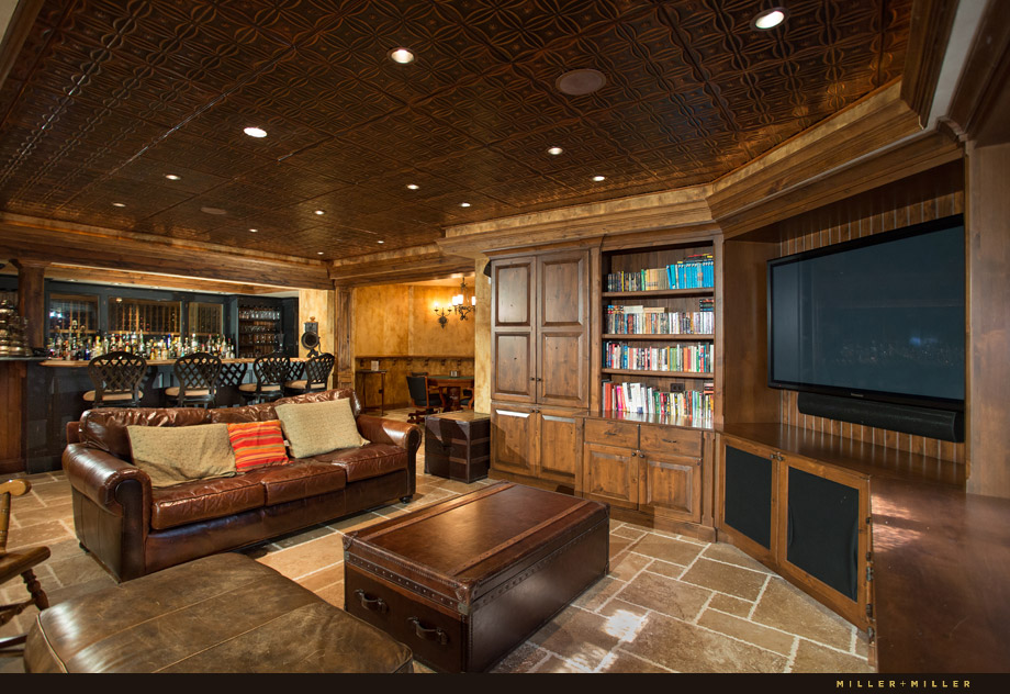 luxury finished basement