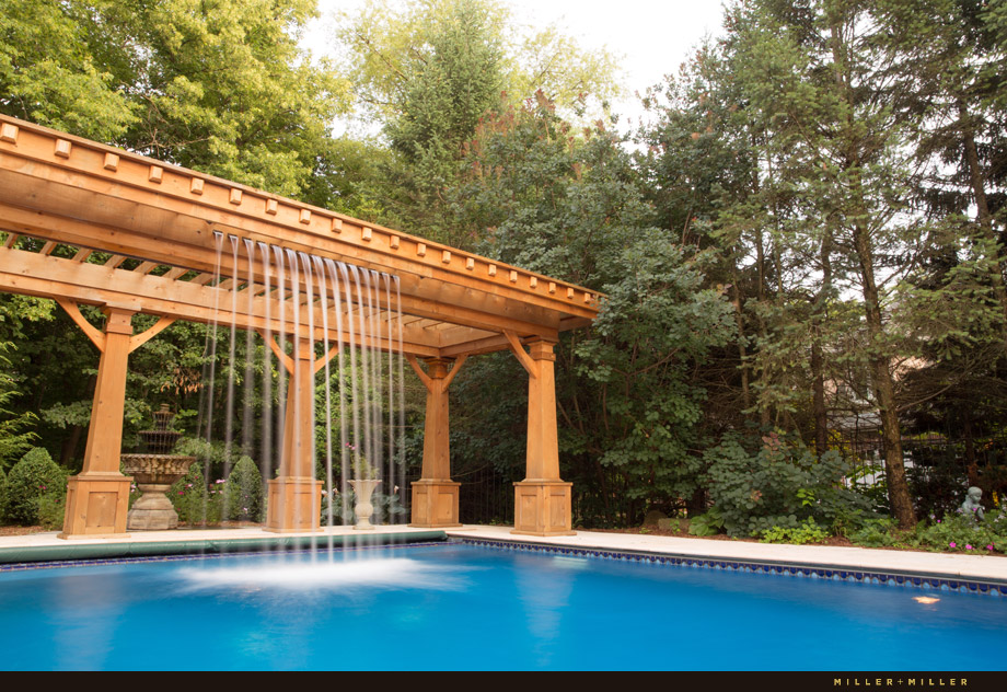luxury pool by forest woods Illinois