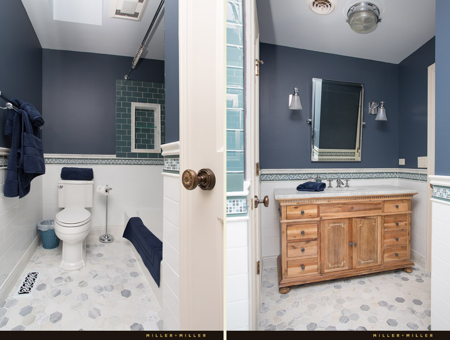 renovated hall bathroom