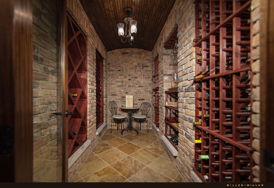 downtown Naperville brick basement wine cellar