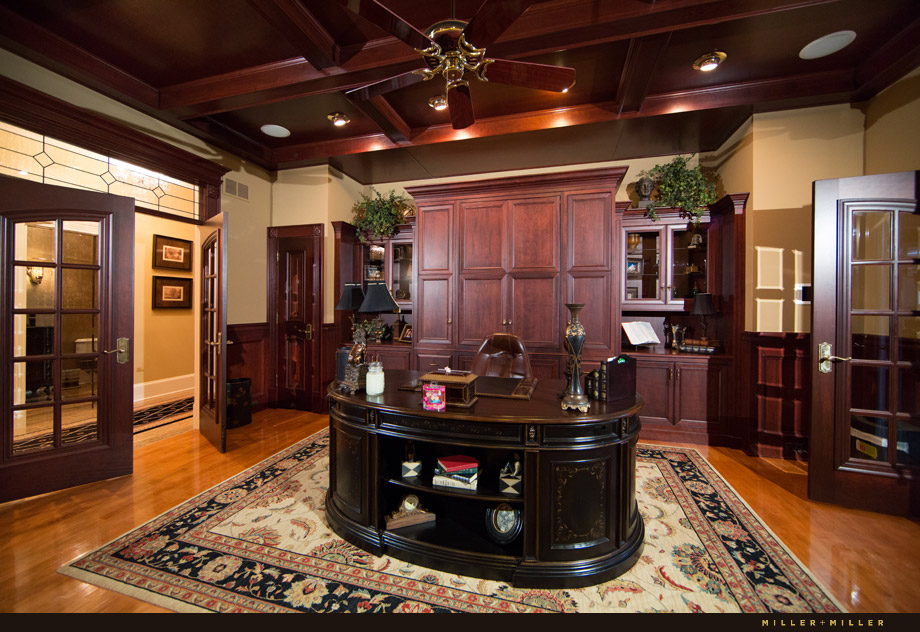 cherry wood den office