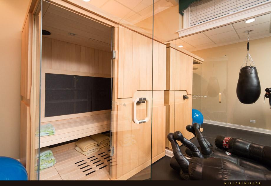 custom dojo gymnasium sauna basement