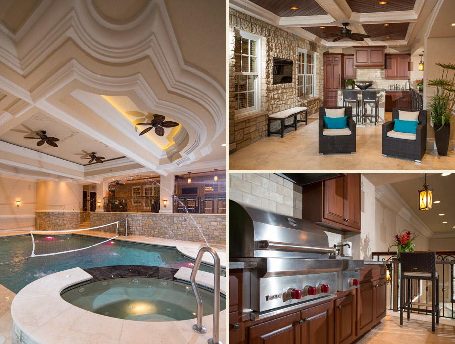 indoor pool natatorium bbq grill cabana terrace