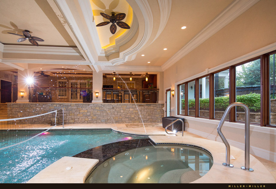 luxurious resort style indoor swimming pool