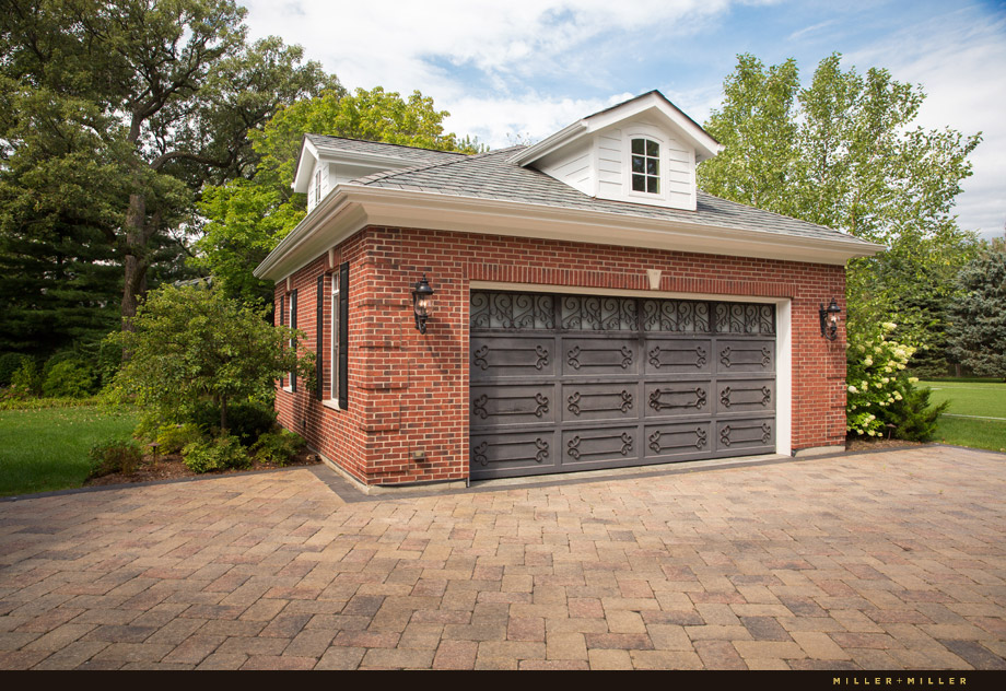 luxury brick iron antique car detached garage