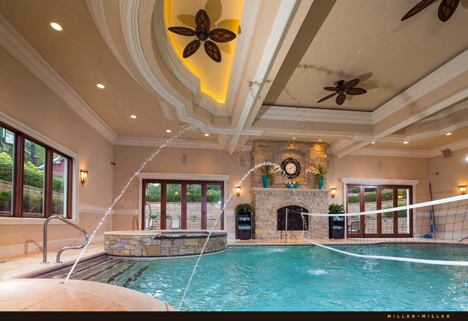 luxury home Naperville indoor pool