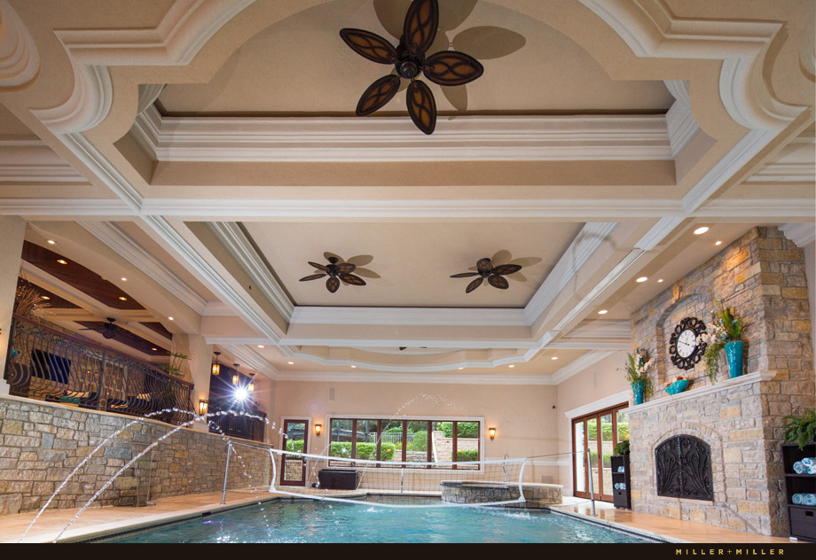 luxury indoor in ground swimming pool