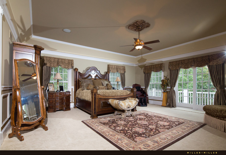 master bedroom dual tray ceiling