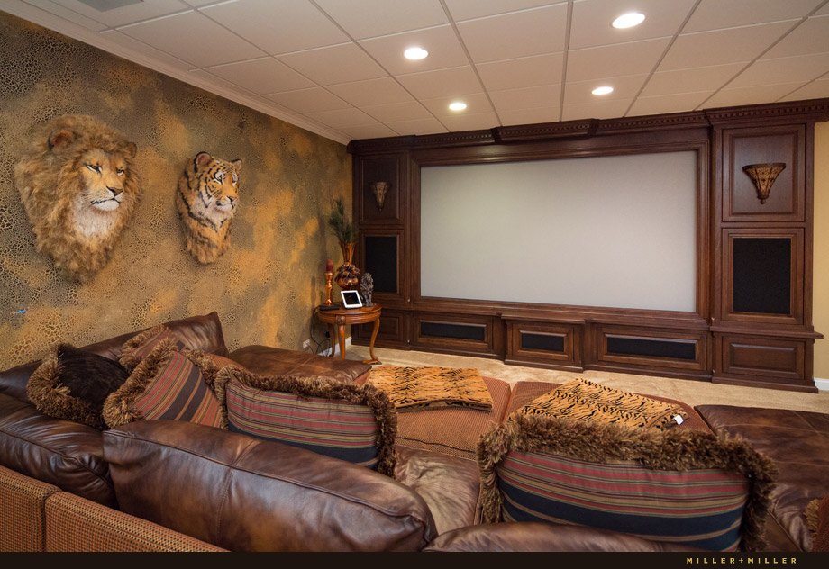 media room 4k projector home theater