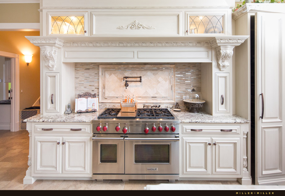oven elegant old world kitchen corbels white cabinetry